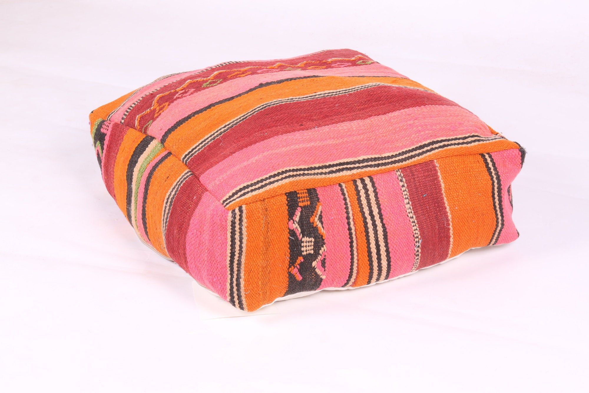 Handwoven Kilim Pouf Moroccan Pillow In 2020 Handwoven Kilim