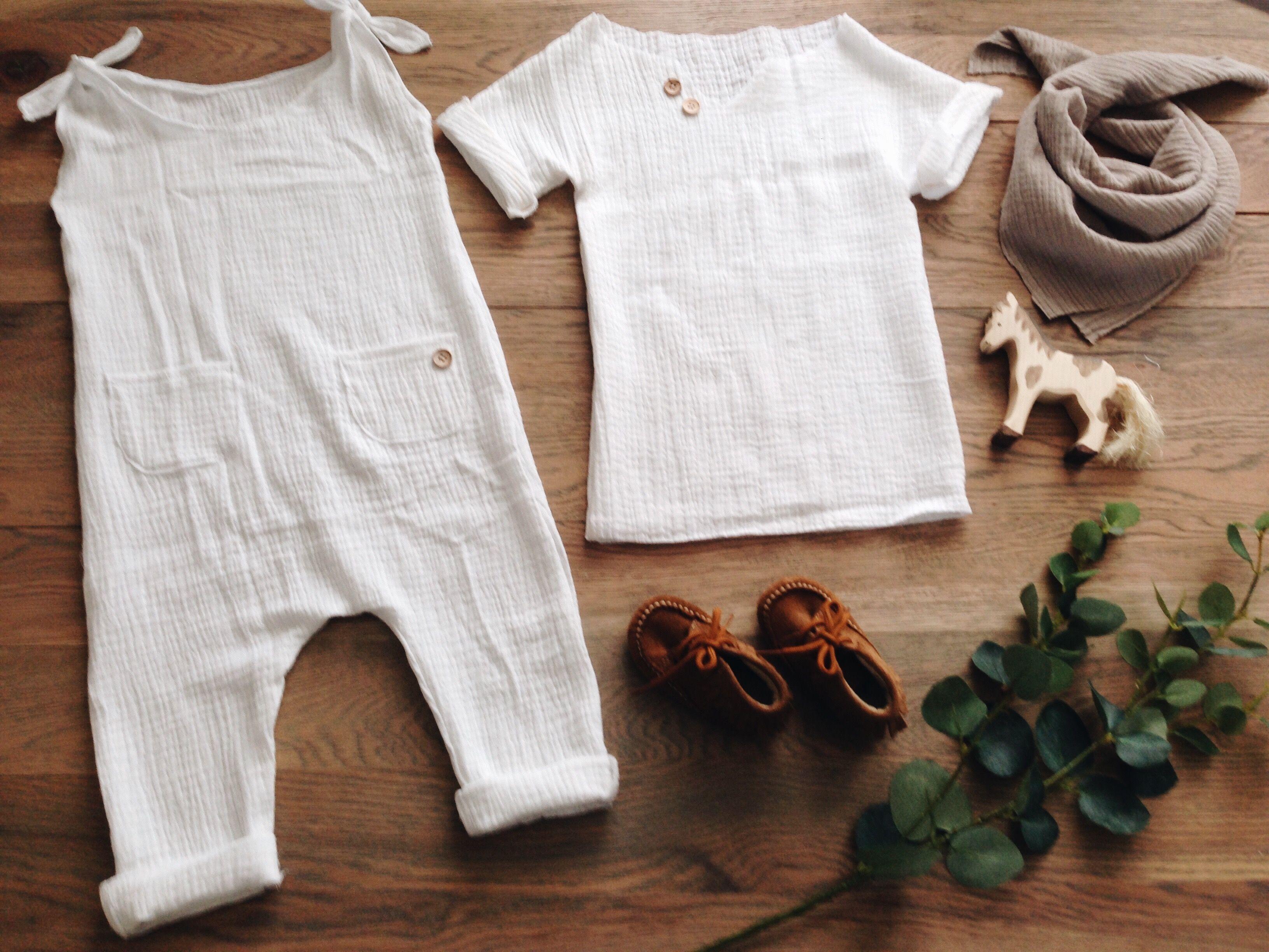 Musselin muslin Mull Overall junpsuit Strampler Shirt Baby nähen ...