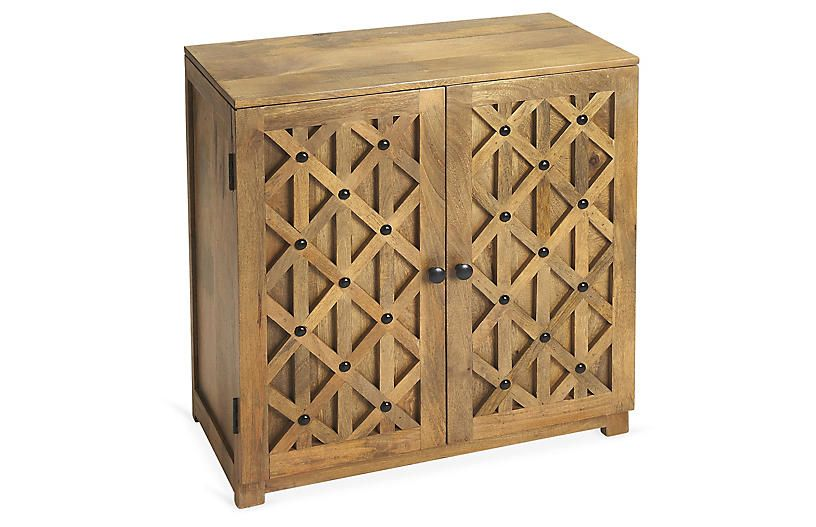 Rondell Cabinet Natural Console Cabinet Furniture Wood