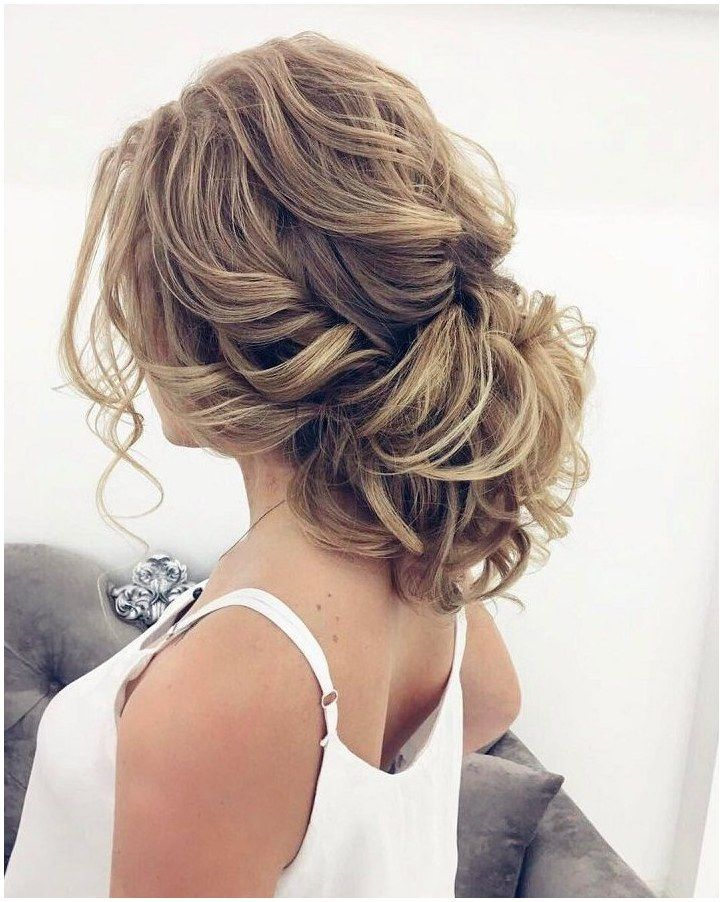 23 Romantic Wedding Hairstyles For Long Hair: Beautiful Messy Updo Wedding Hairstyle For Romantic Brides