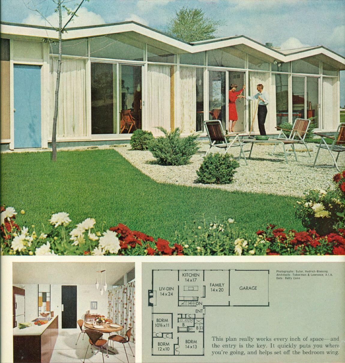 1963 Better Homes & Gardens Homes   All America Plan #3307-B ...
