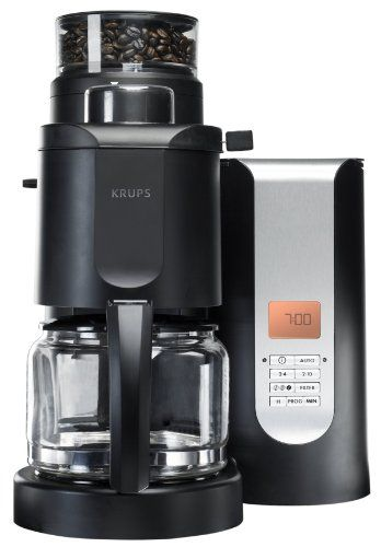 KRUPS KM7000 10 Cup Grind And Brew Coffee Maker With Stainless Steel  Conical Burr Grinder