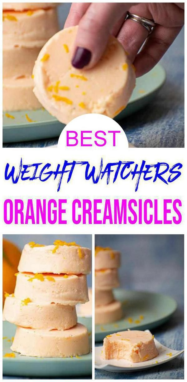3 Ingredient Weight Watchers Orange Creamsicles  The BEST Low Calorie Weight Watchers Orange Creamsicles Easy  No Bake Great Weight Watchers dessert idea or treat or snac...