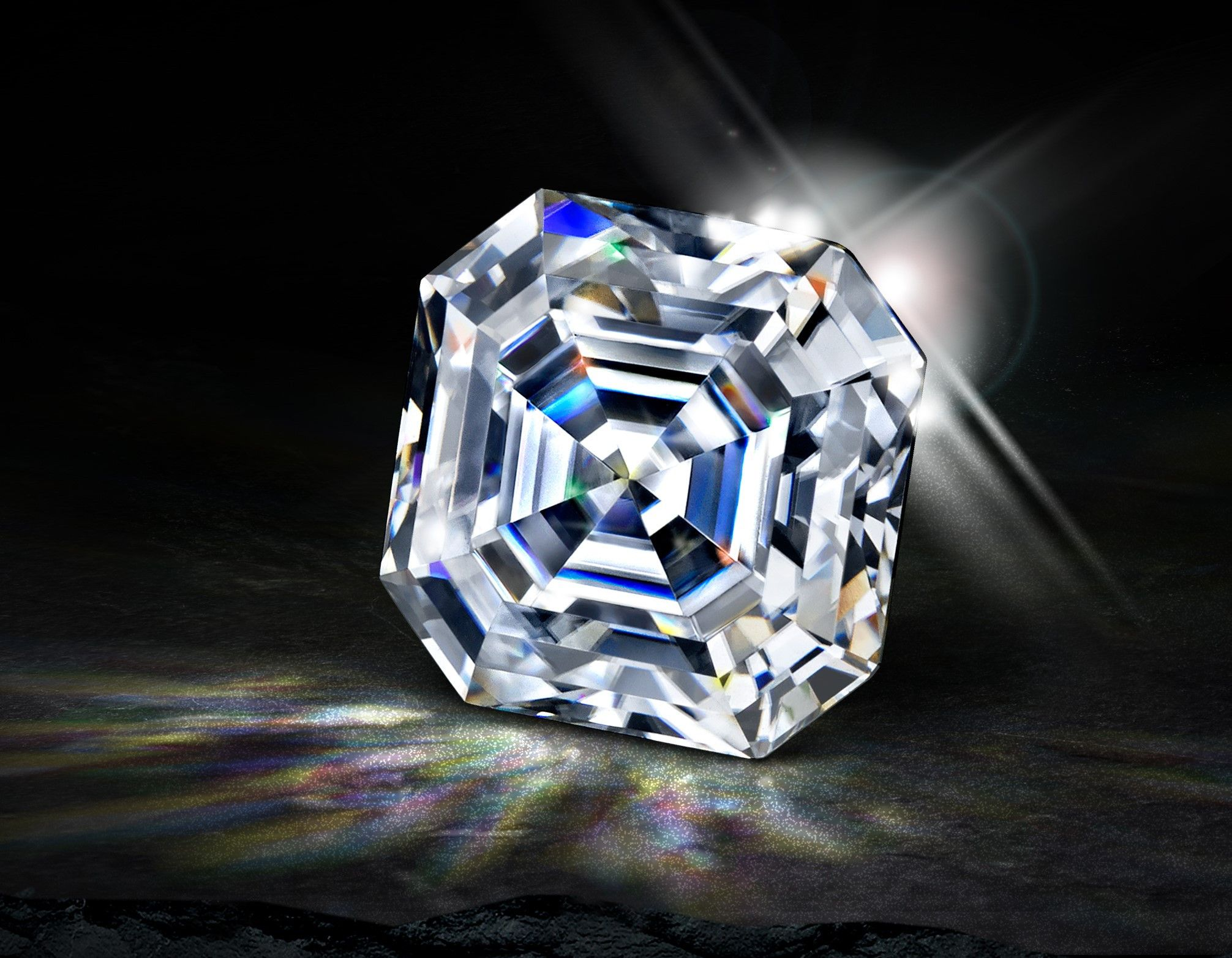 Loose SUPERNOVA Moissanite Asscher Cut 8mm
