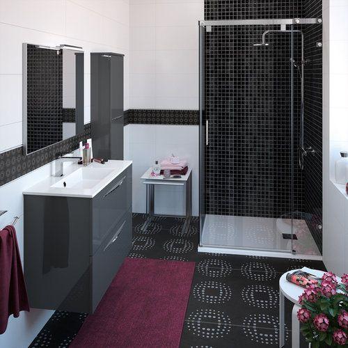 meuble de salle de bain cedam gamme slim meuble faible profondeur pour petits espaces. Black Bedroom Furniture Sets. Home Design Ideas