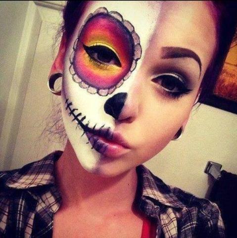 Wie nennt man diese halloween schminke? #dollfacepainting