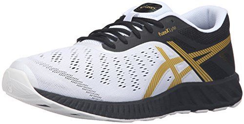 ASICS Mens Fuzex Lyte running Shoe BlackRich GoldWhite 10 M US * Visit the  image link