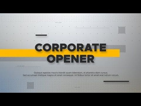 Corporate Stylish Opener Videohive After Effects Templates