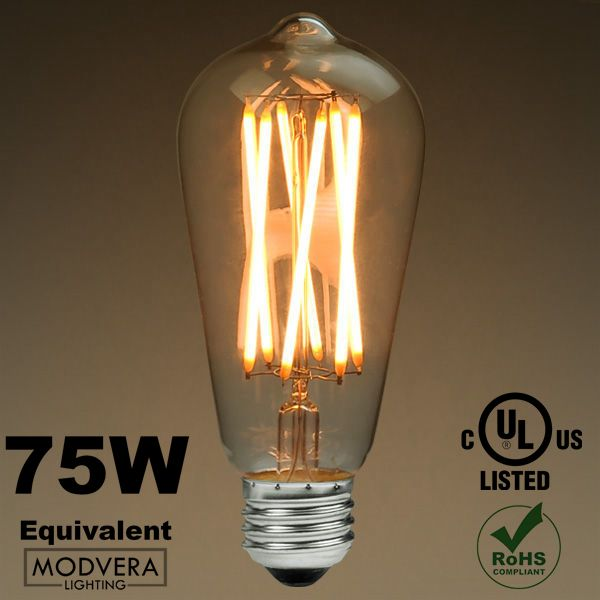 Led Antique X Filament Bulb Edison Style St64 8 Watt 75w