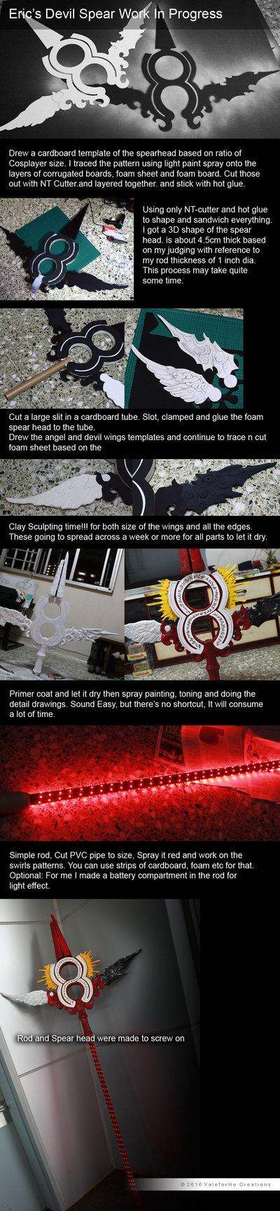 Eric S Alucard Spear Wip With Images Cosplay Diy Spear Cosplay Tutorial