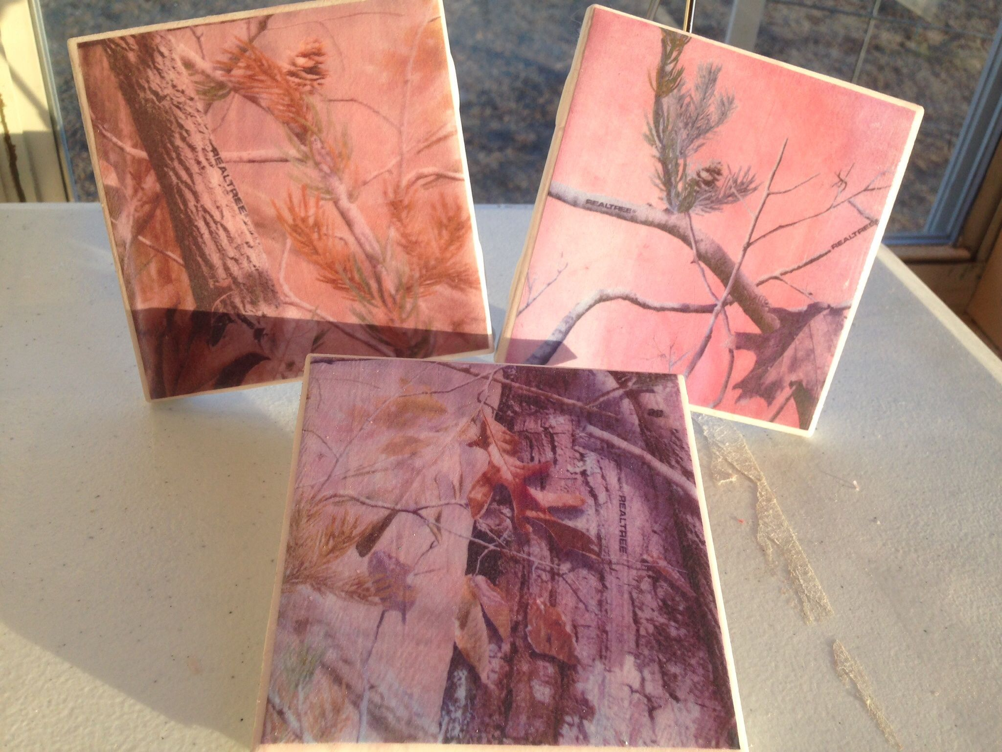 Set of 6 ceramic tile pink realtree coasters httpwww set of 6 ceramic tile pink realtree coasters httpreevescountrysewing doublecrazyfo Choice Image