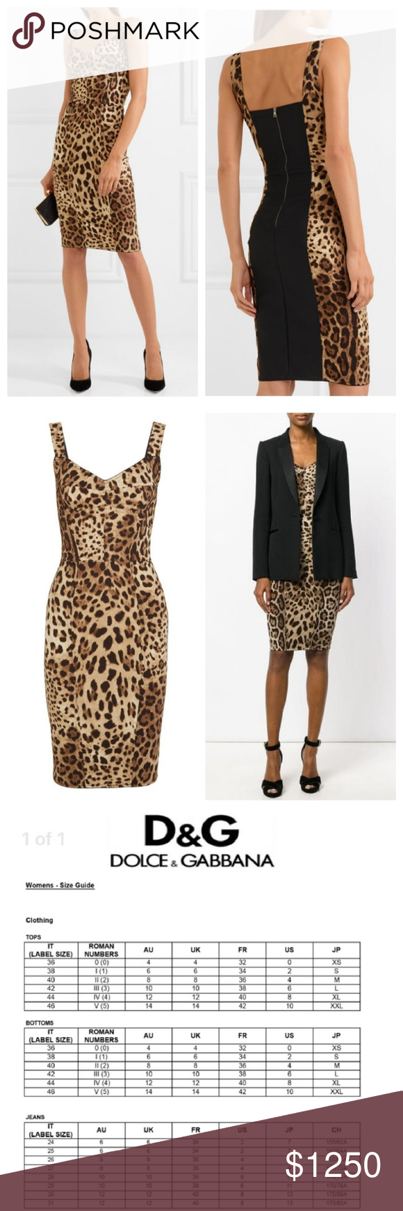 Dolce Gabbana Leopard Dress Stunning Print Panel New With Tags See Posted Size Chart For Conversion From Italy To Us