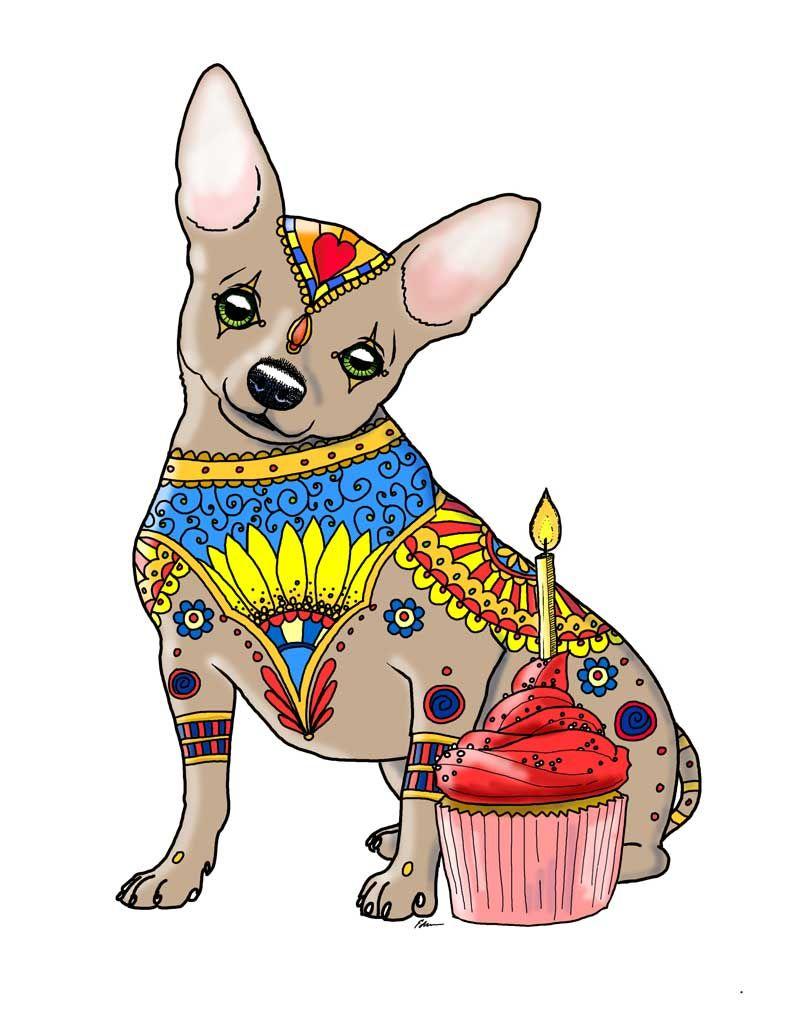 Art of Chihuahua Coloring Book https://www.amazon.com/dp/1539021297 ...