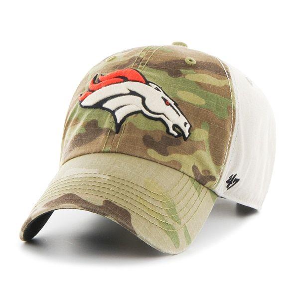 fca99850cf8d0f Denver Broncos Camo Multicam Clean Up 47 Brand Adjustable Hat ...