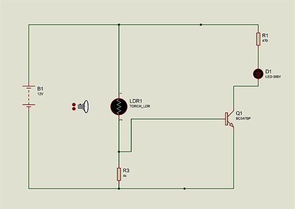 Simple but effective Dark/Light sensor using transistor based on the ...