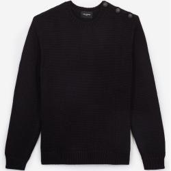 Photo of The Kooples – Round neck midnight blue wool blend sweater – Damenthekooples.com