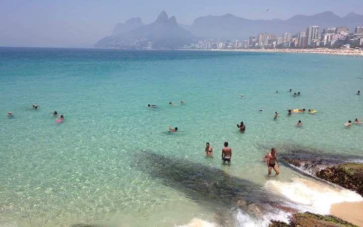 Foto da Praia do Arpoador - Rio de Janeiro - Brasil.