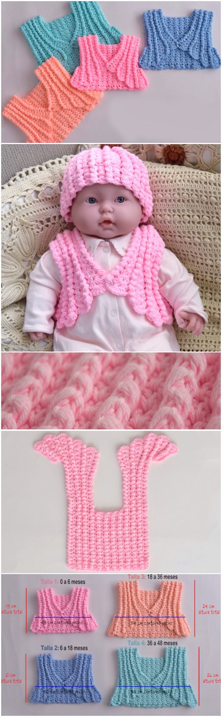 Crochet Colorful Baby Jacket Step By Step | Crochet | Pinterest ...