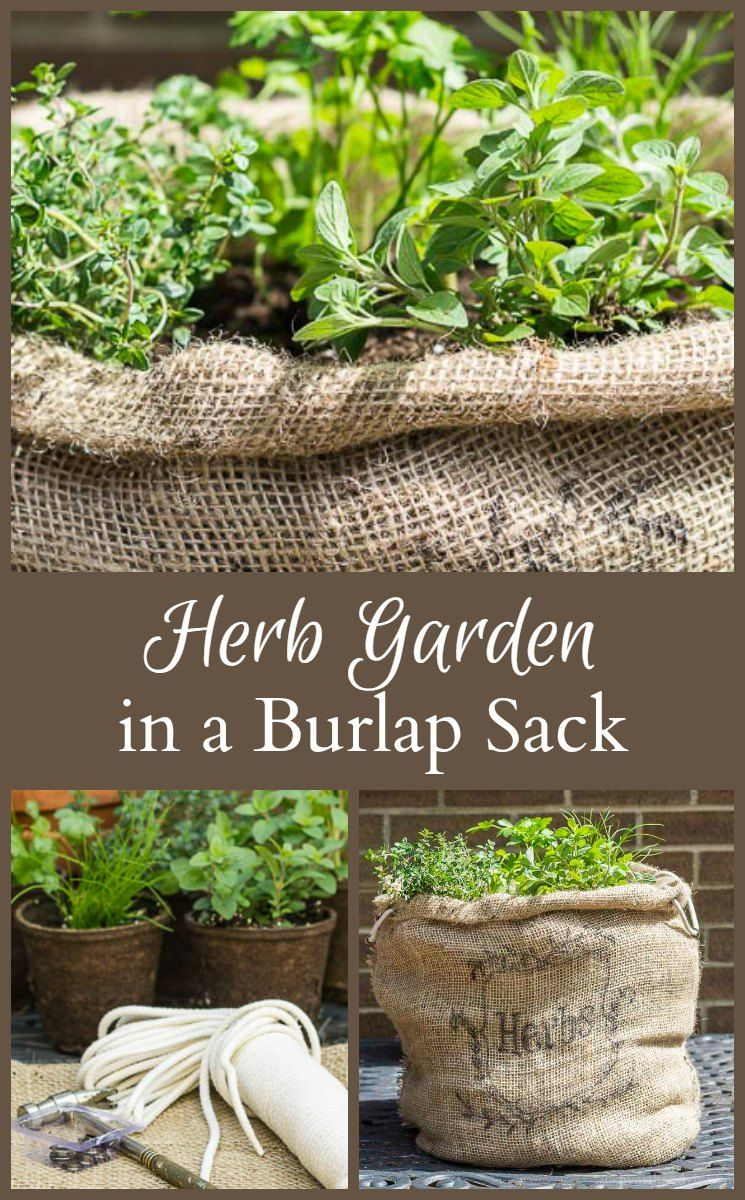 Herb Garden in a Burlap Sack - Easy and Affordable to Make ...