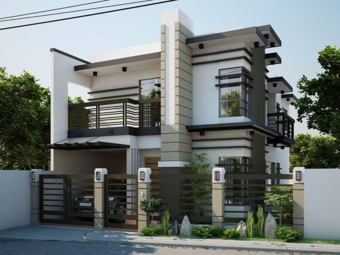 Elegant nice looking modern contemporary house designs for House garage design philippines