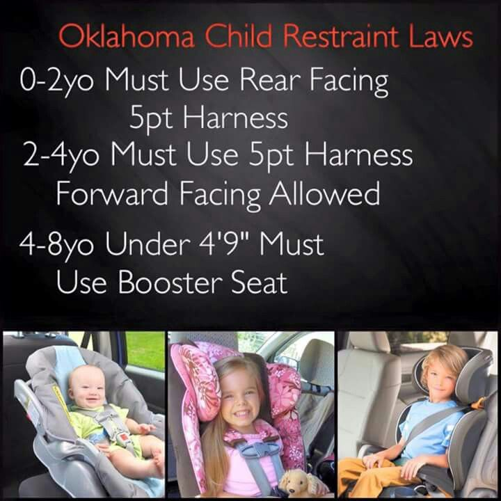 Oklahoma Child Seat Belt Laws, What Is The Law For Booster Seats In Oklahoma