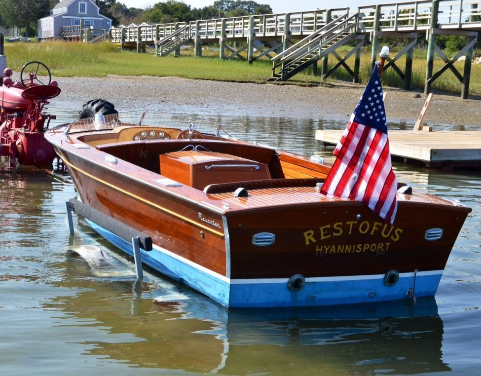 Chris Craft Flag Post War Blue