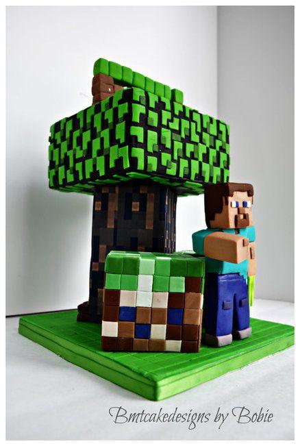 Minecraft Cake  Cake by BMTCakeDesigns