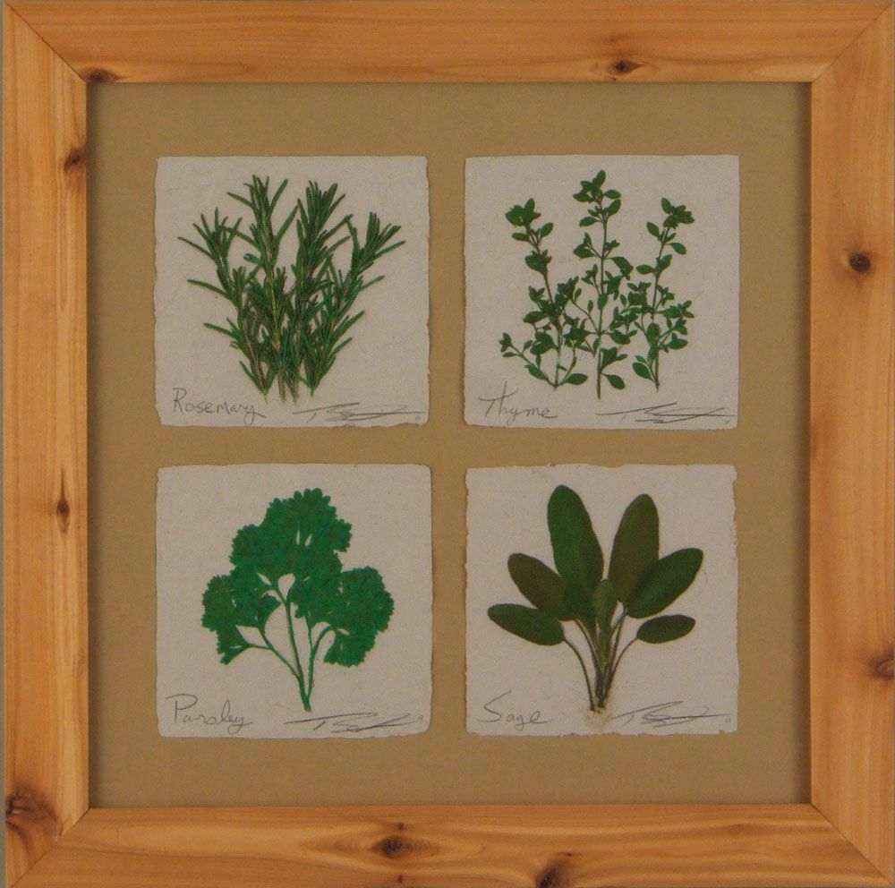 herb quartet My Garden Papers Home decor, Decor