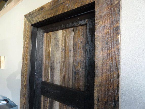 Transform your door frame into a rustic barnwood theme. Barn wood ...