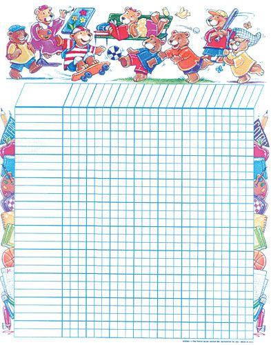 Bears Classroom Sticker Chart  Sticker Charts