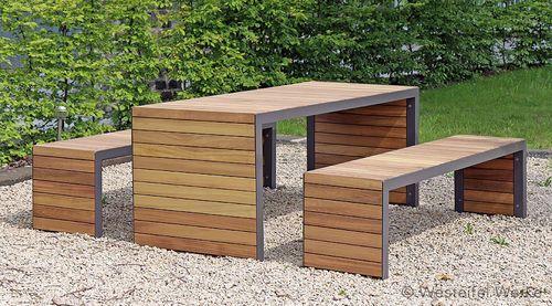 Picnic Table For Public Spaces Gem Westeifel Werke Gmbh Modern Outdoor Furniture Outdoor Garden Furniture Garden Furniture