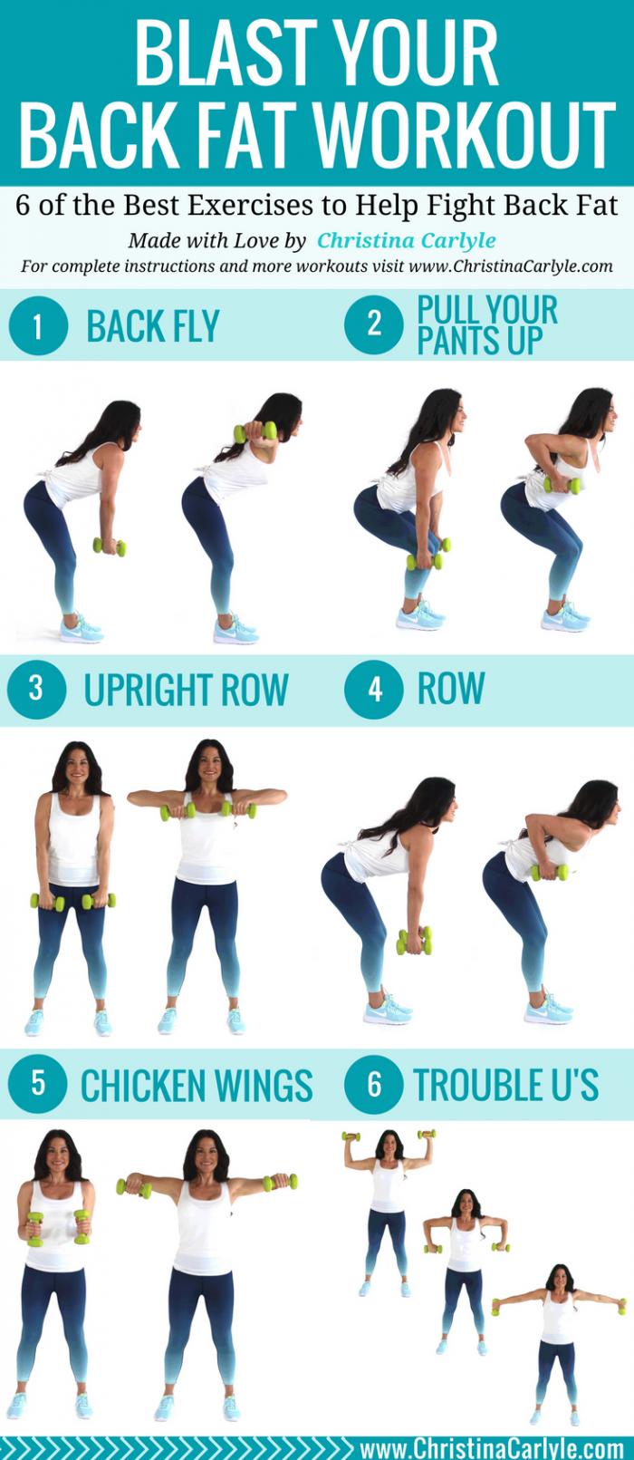Back fat exercises pinterest exercise