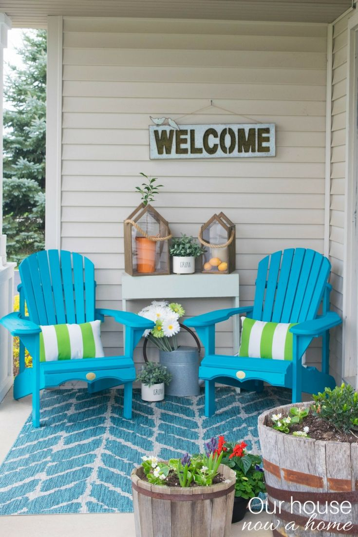Front porch ideas traditional porch los angeles - Front Porch Decorating Ideas With The Perfect Adirondack Chairs