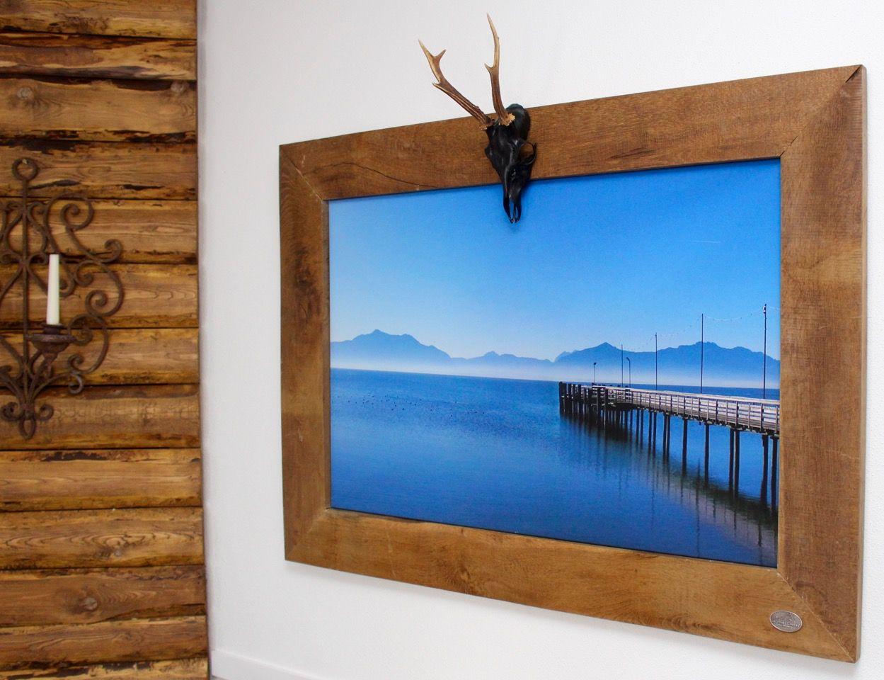 bilderrahmen aus altholz mit krickerl geweih handgefertigt in rosenheim bayern dekoration. Black Bedroom Furniture Sets. Home Design Ideas