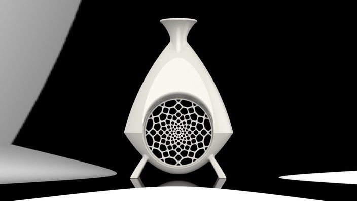 #3DPrinted Vase with decorative hole _Designed by Flaviano Crespi , www.likefigures.com