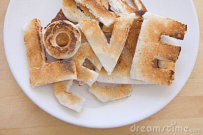 ♥ love in toast