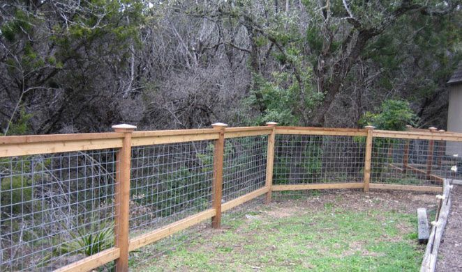 Pictures Of Cattle Panel Fencing Or Livestock Fencing   Austin, TX   4 Foot  Tall Cedar Cattle Panel Fencing