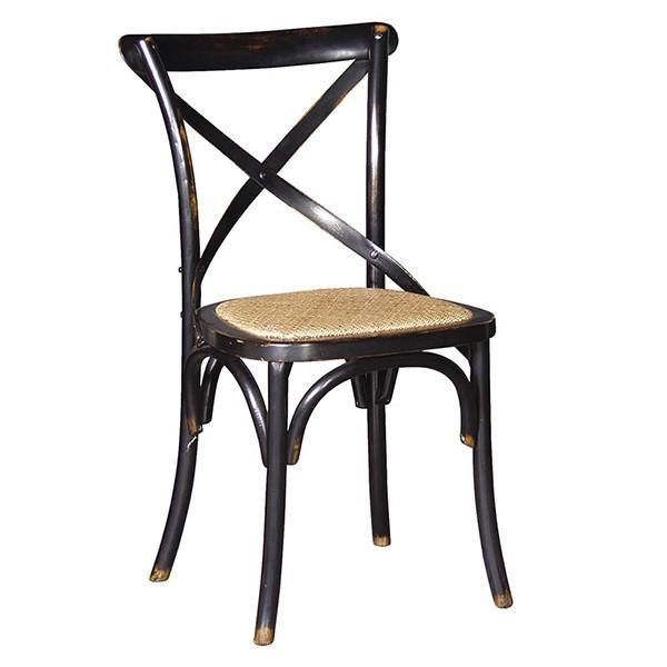 Belle Noir Cross Back Dining Chair Modish Living Metal Dining Chairs Cross Back Dining Chairs Dining Chairs