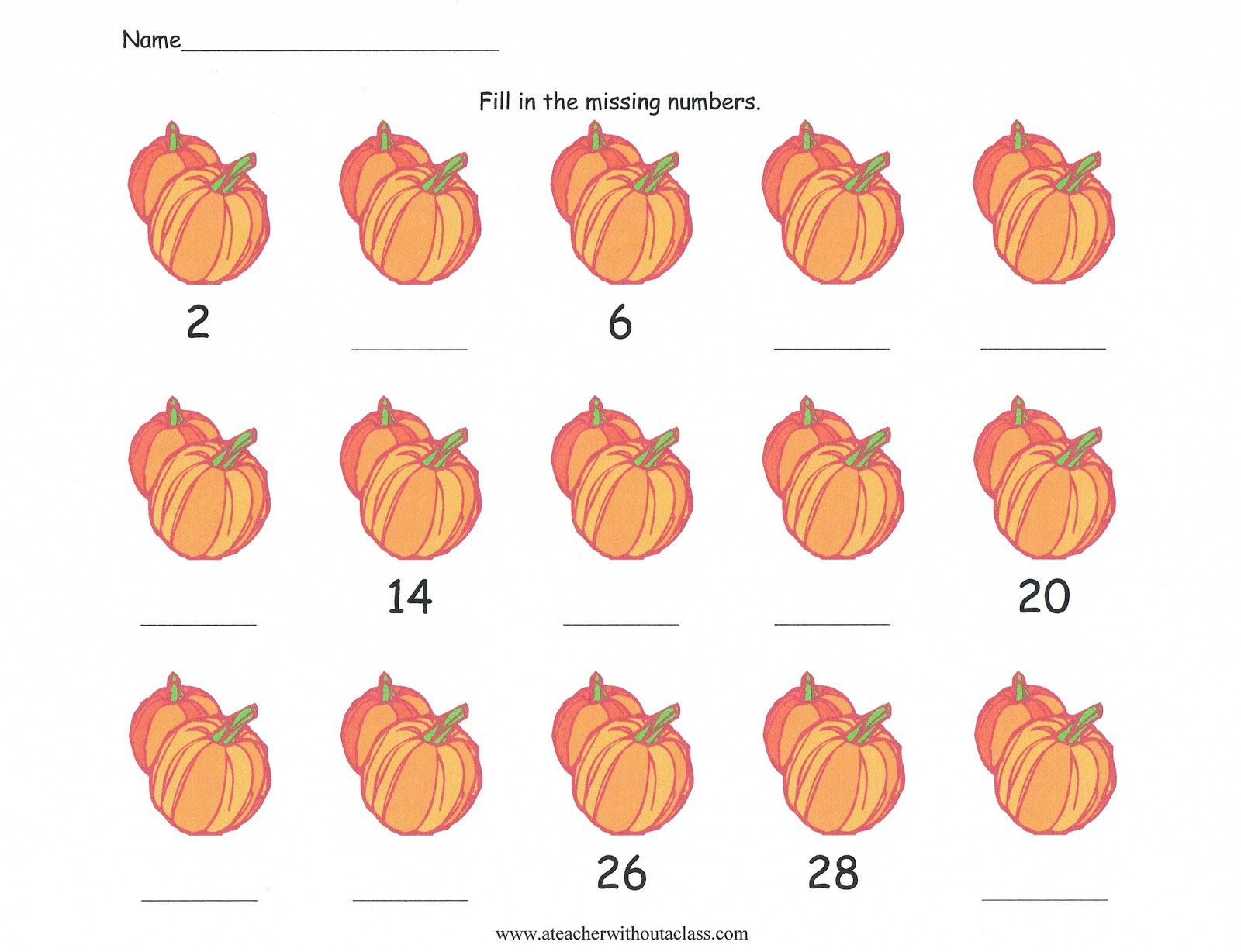 Skip Counting With Pumpkins