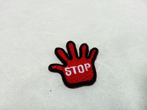 Beenden Sie Hand-Eisen auf Patch Stop Hand von PoohmieCollection