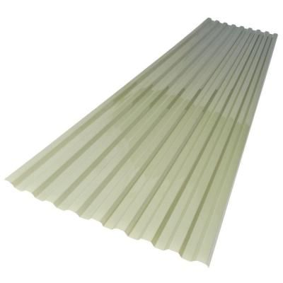 Suntuf 26 In X 6 Ft Misty Green Polycarbonate Roof Panel 159860 The Home Depot Polycarbonate Roof Panels Corrugated Plastic Roofing Corrugated Roofing
