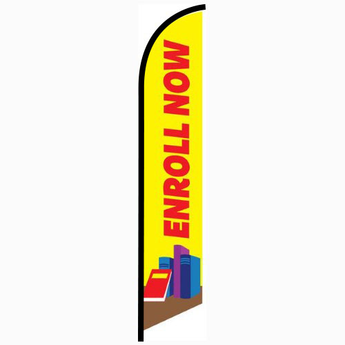 Enroll Now Swooper Banner Sign Flag In 2020 Banners Signs Flag Signs Flag Sizes