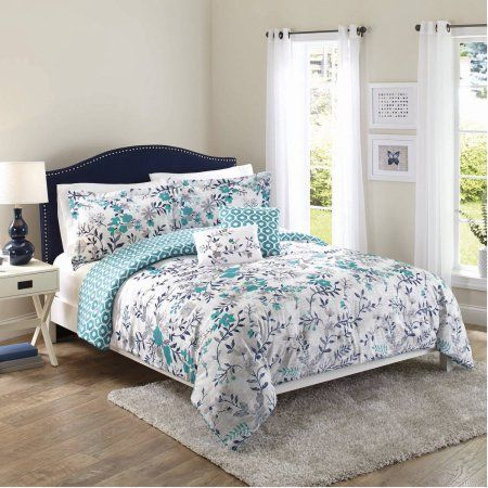 f9c34fcff8c43192dad545e313951538 - Better Homes And Gardens Teal Flowers 5 Piece Set