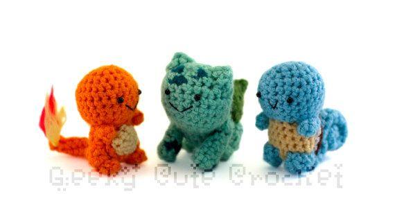 crochet keychain - Pokemon Starter Set of 2. $19.00, via Etsy ... | 293x570
