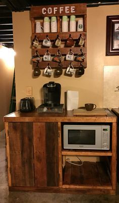 Pallet Coffee Microwave Cart Project Exactly What I Want To Make Witty Room For A Mini Fridge
