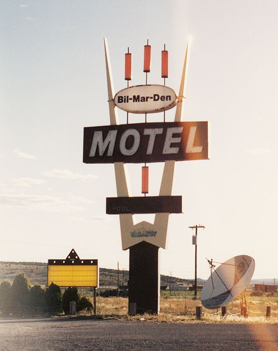 Abandoned Motel sign that use to be the Stagecoach Motel. Located on Route 66 in Seligman, AZ.