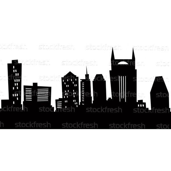 Stock Photo Cartoon Nashville Skyline Silhouette Nashville Skyline Nashville Art Skyline Silhouette