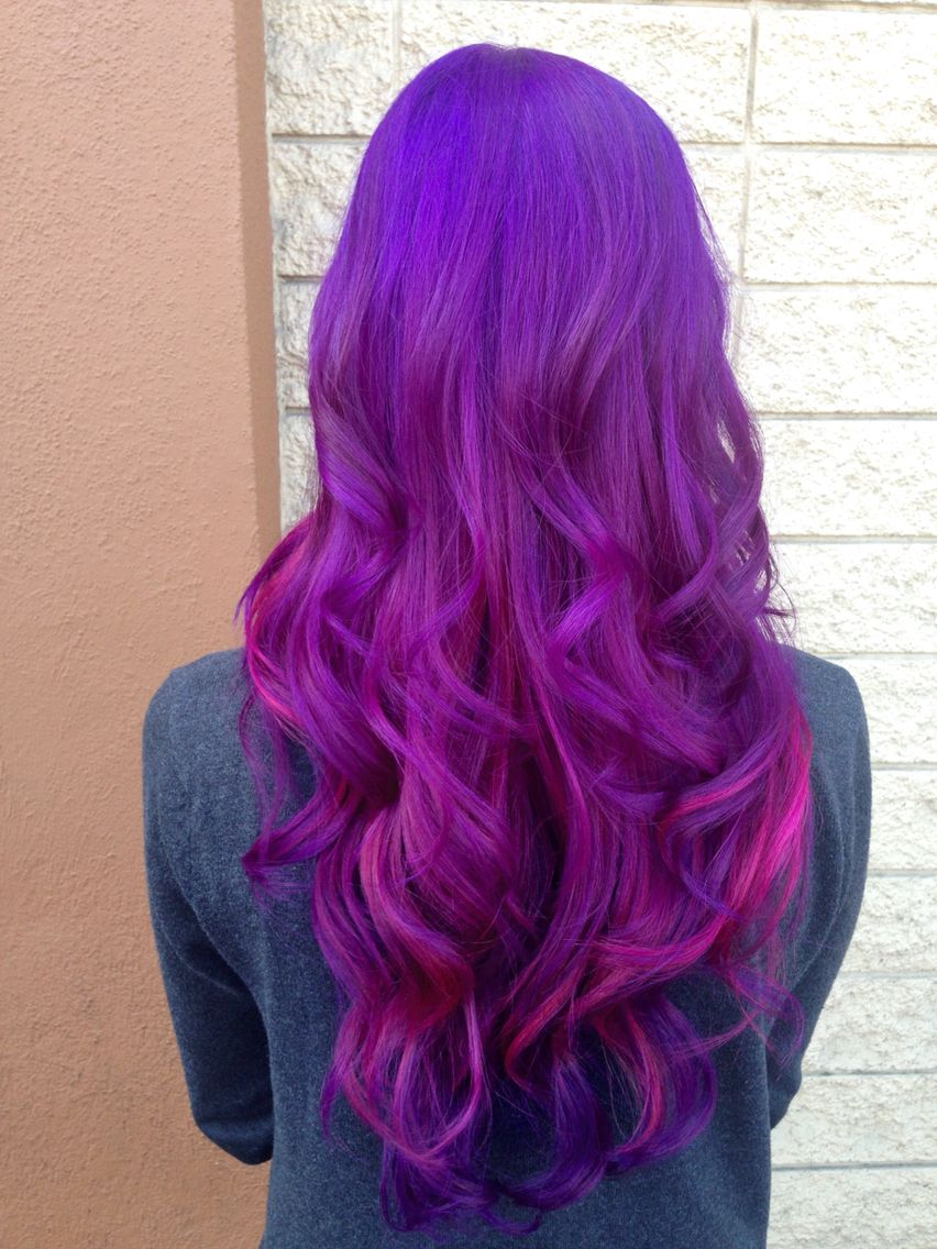 pravana violet and wild orchid hair colors pinterest
