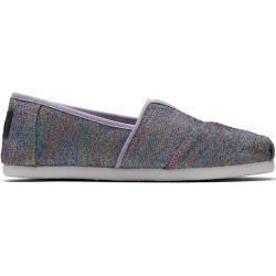 Toms Schuhe Grau-Violette Glimmer Classics Für Kleinkinder – Größe 36 TomsToms