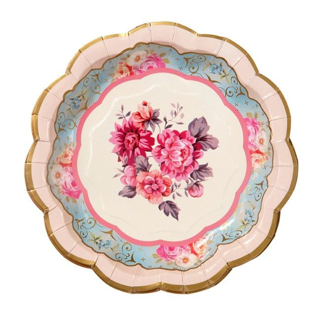 sweet paper plates based on vintage china  sc 1 st  Pinterest & sweet paper plates based on vintage china | things i love ...